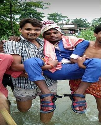 bihar flood groom